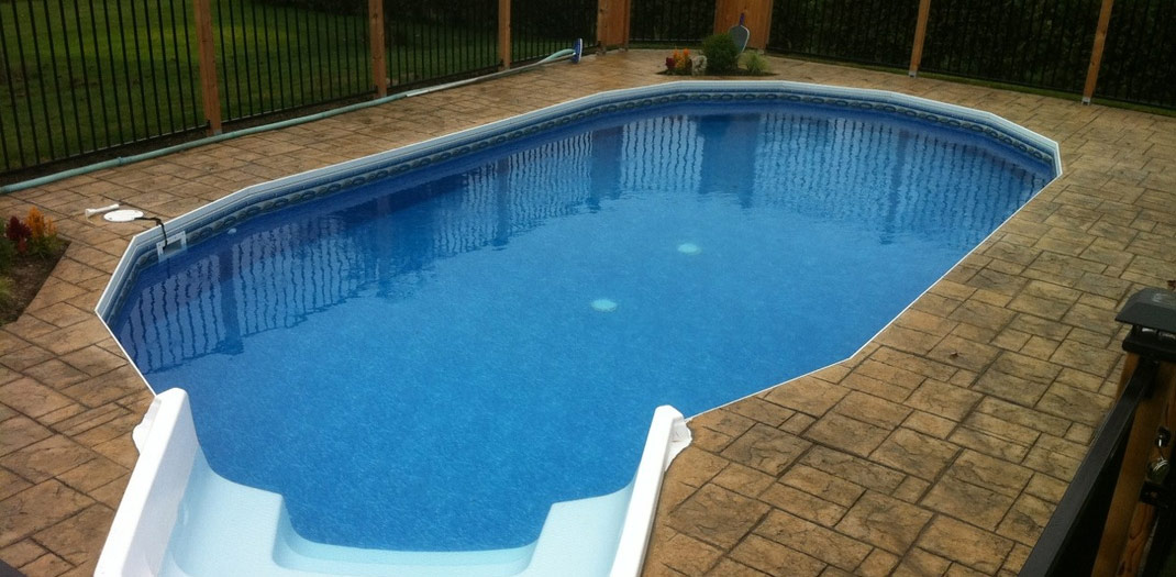 Blue Horizon Pools And Spas Ultimate Semi Inground Pool By Fox Goderich Ontario